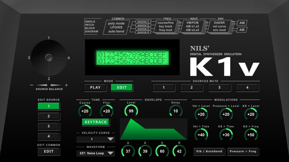 Kawai K1: VST features, differences & UI mockups